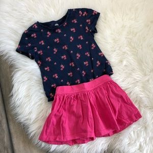 Floral Shirt and Skirt Outfit Old Navy